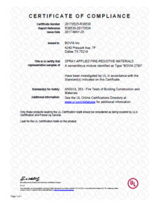 Certificate of Compliance (Bovia 279 II)