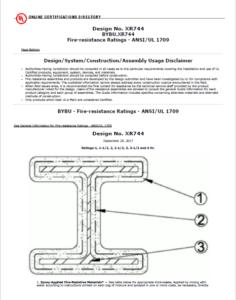 BOVIA 271 II - UL Certified Design No. 744